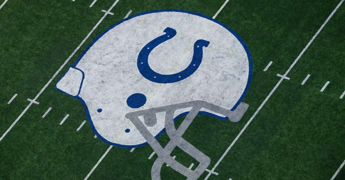 Colts high school football coach ripping off new logo