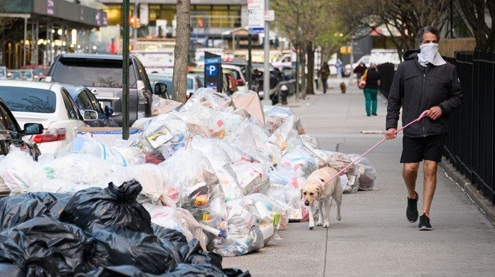 coronavirus-trash-new-york-getty