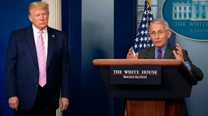 donald trump anthony fauci getty images