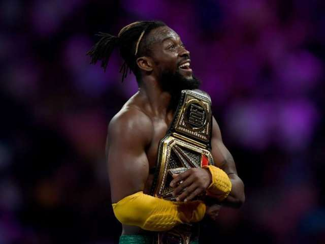 WWE's Kofi Kingston Wears Face Mask, Gets Vitamin C Treatment in Attempt to Prevent Coronavirus