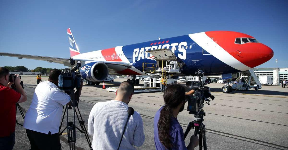 New England Patriots plane flies 12 million masks China