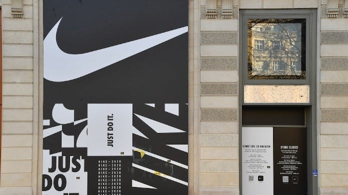 nike storefront getty images