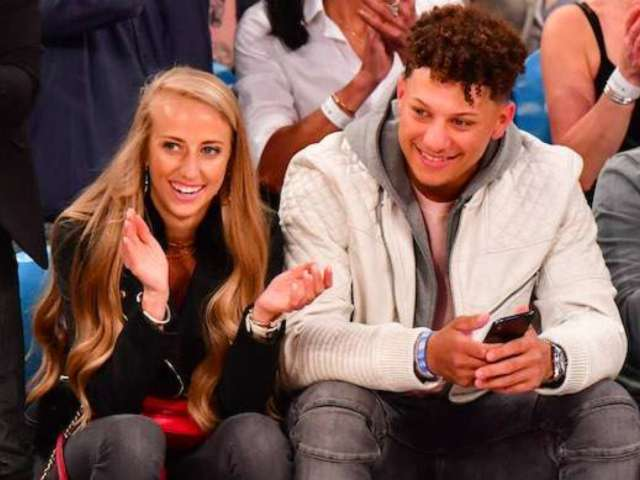 Patrick Mahomes and Girlfriend Brittany Matthews Attempt 'Koala Challenge' Amid Self-Quarantine
