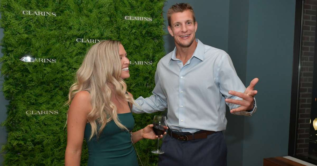 Rob Gronkowski Camille Kostek dance moves coronavirus charity event