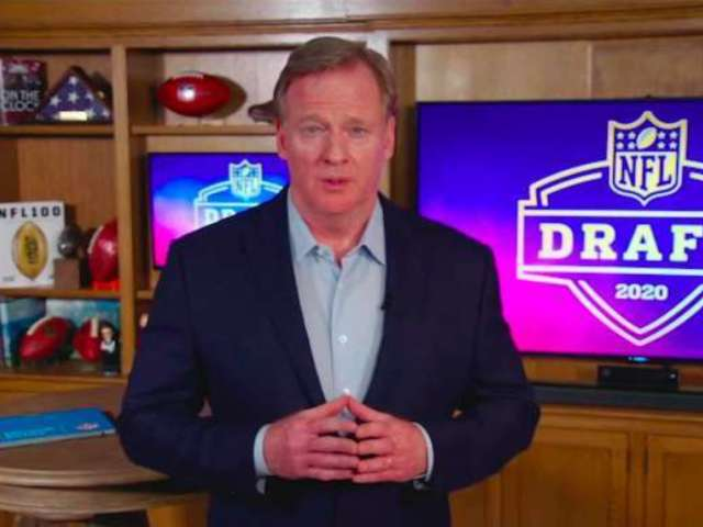 NFL Draft: Roger Goodell Is Getting Crazy Comfortable While Filming in His Basement