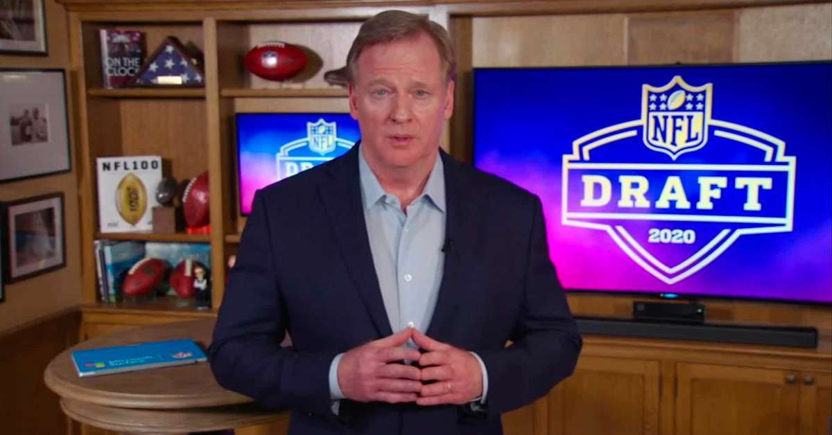 Roger Goodell fumbles announcement NFL Draft 2022 location las vegas