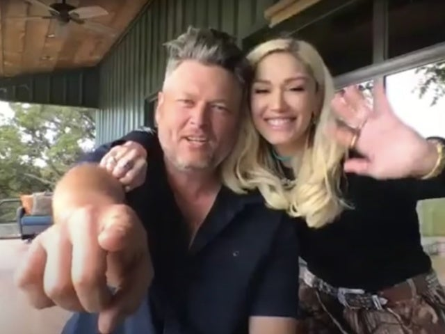 Gwen Stefani Trims Blake Shelton's Quarantine Mullet on 'The Tonight Show' With Jimmy Fallon