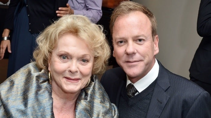 shirley douglas kiefer sutherland getty images