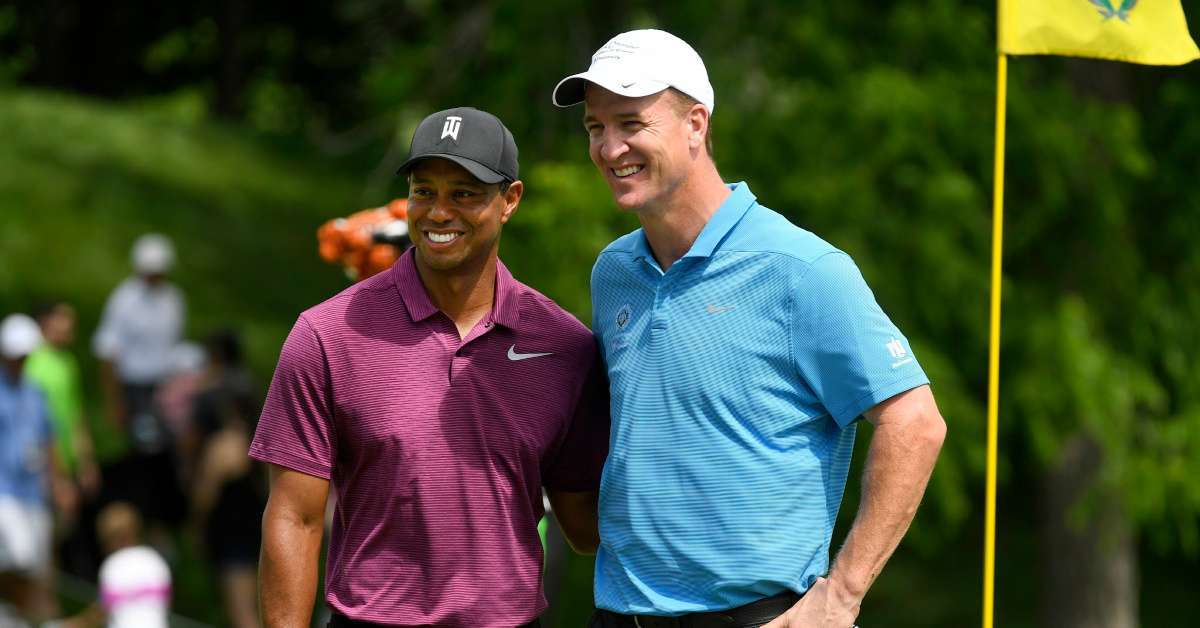 Tiger Woods Peyton Manning Phil Mickelson Tom Brady golf match charity