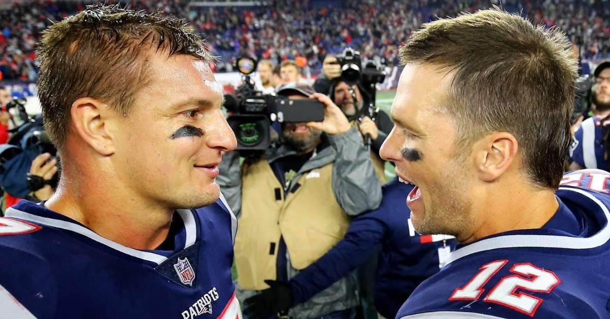 Tom Brady reacts Rob Gronkowski joining Tampa Bay Buccaneers
