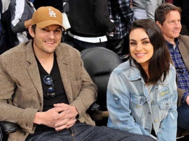 Watch: Ashton Kutcher Goes Shirtless, Cuts up With Wife Mila Kunis on 'Tonight Show'