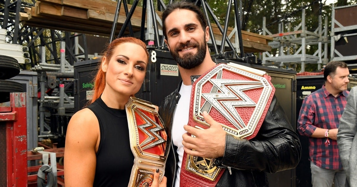 becky lynch seth rollins getty images
