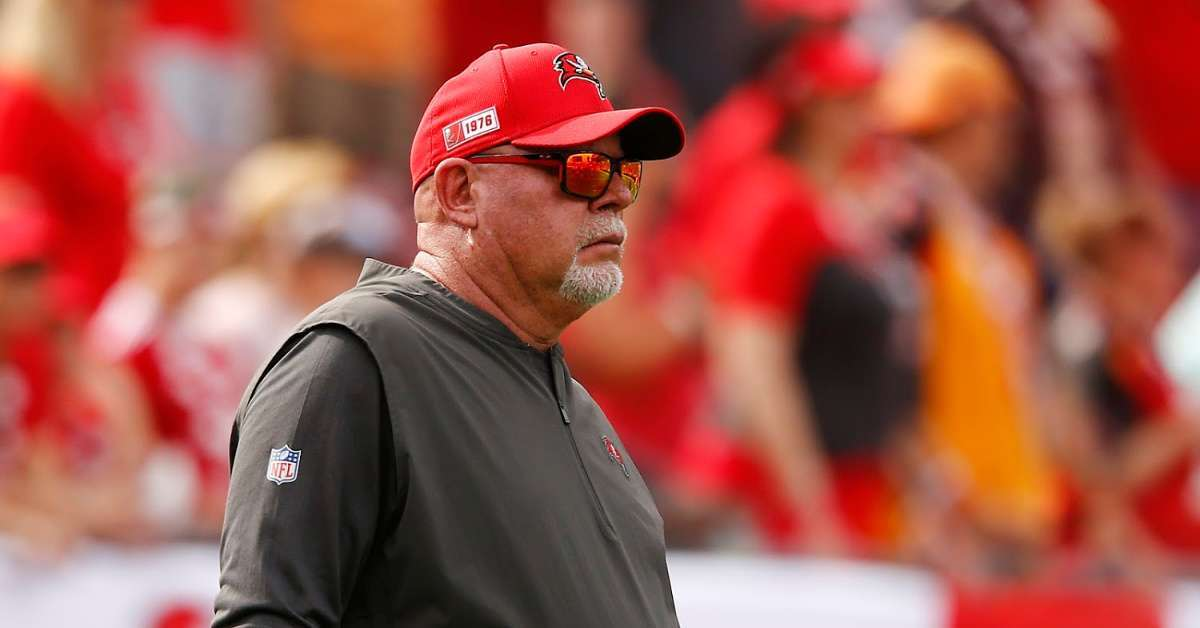 Buccaneers coach Bruce Arians coming Rob Gronkowski WWE 247 title