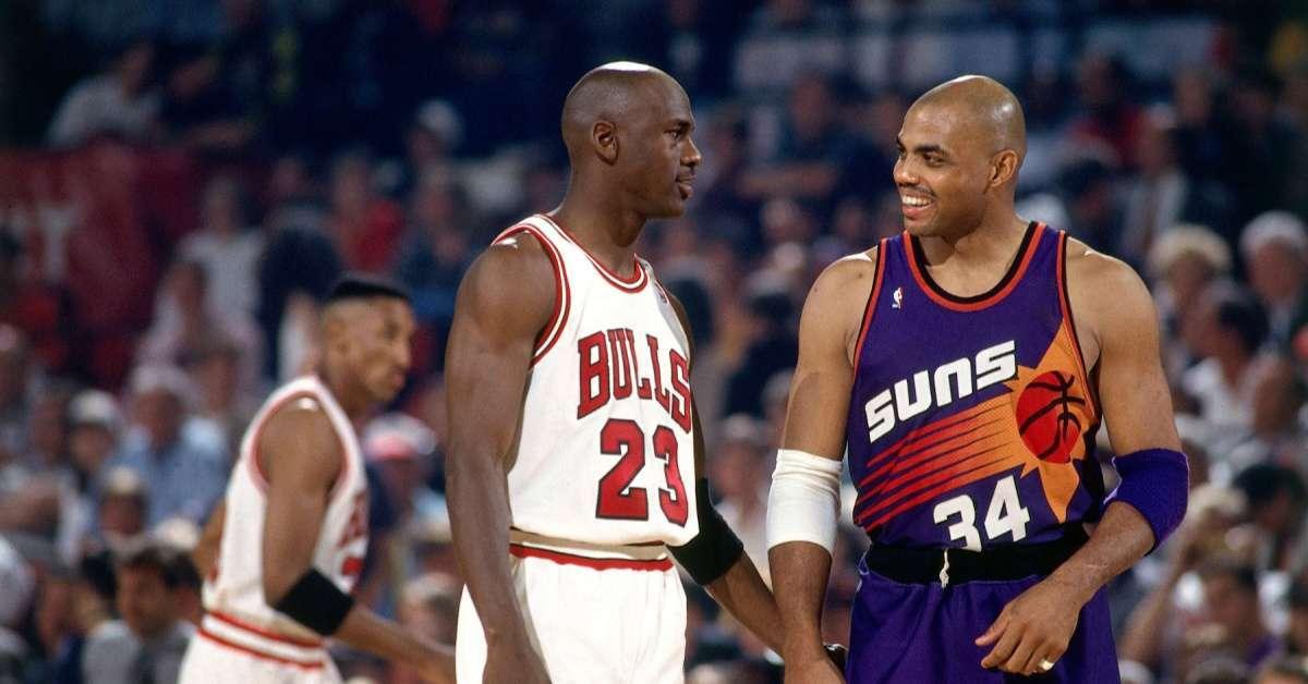 Charles Barkley Michael Jordan torn up falling ouit