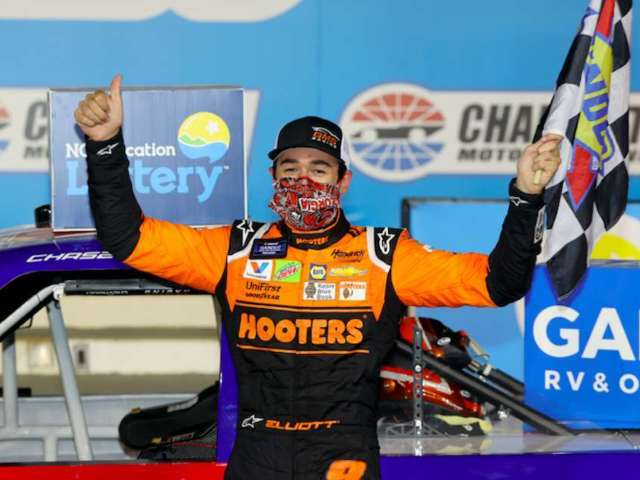 Chase Elliott Defeats Kyle Busch in Truck Series, Captures $50K Bounty Following Toyota 500 Crash