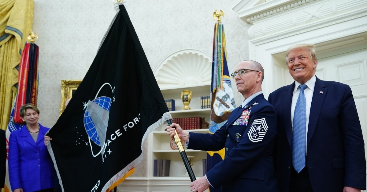 donald trump space force flag getty images