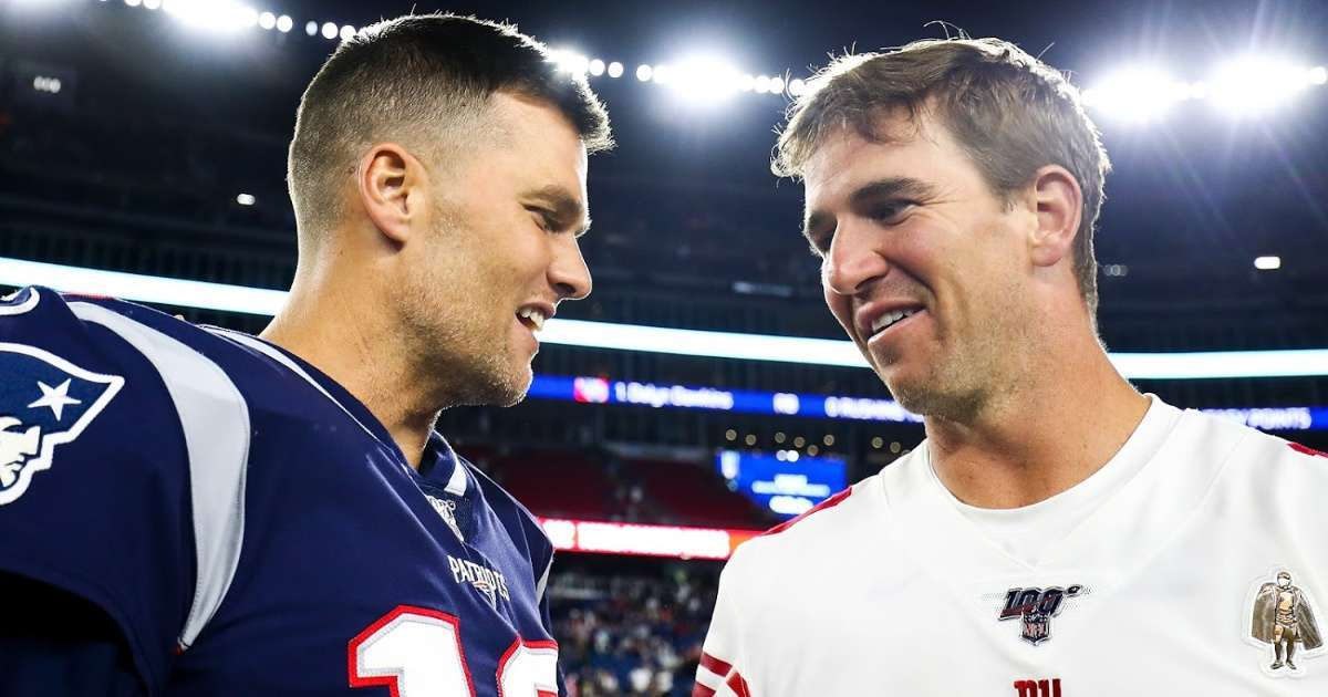 Eli Manning joins Twitter Tom Brady fires back 4th quarter joke