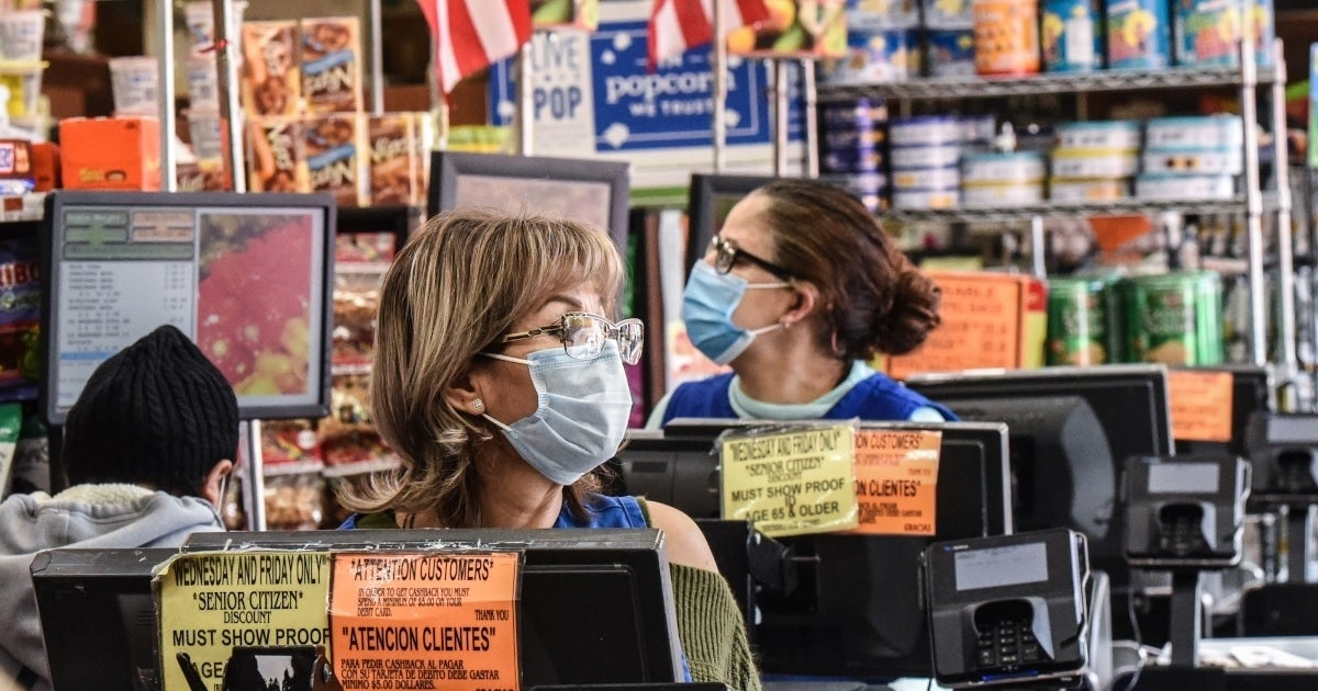 face mask grocery store getty images