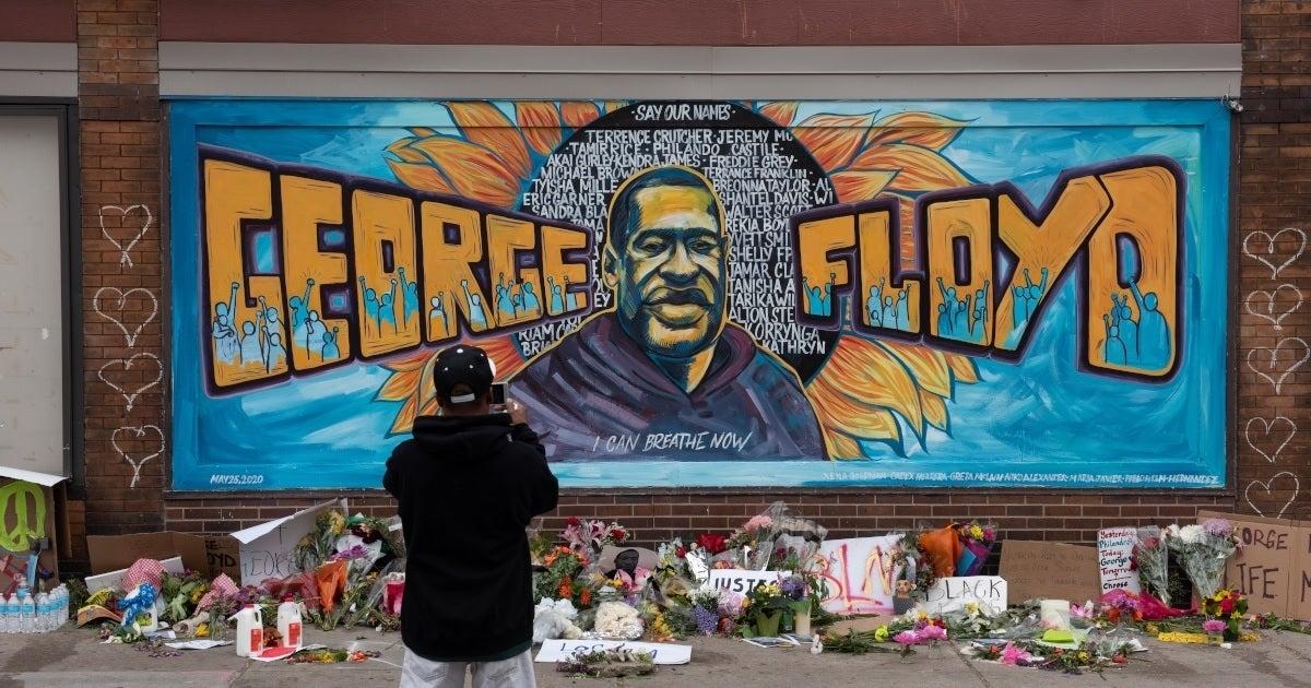 george floyd mural getty images