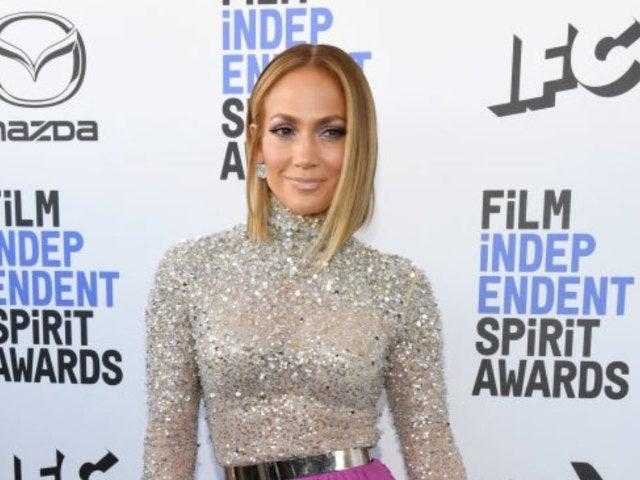 Jennifer Lopez Shows off Toned, Long Legs in High-Cut One-Piece