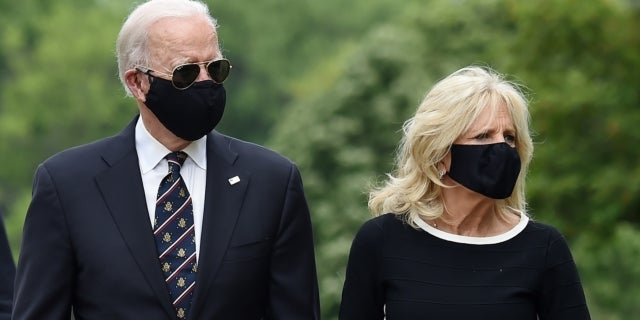 joe biden jill biden face masks getty images