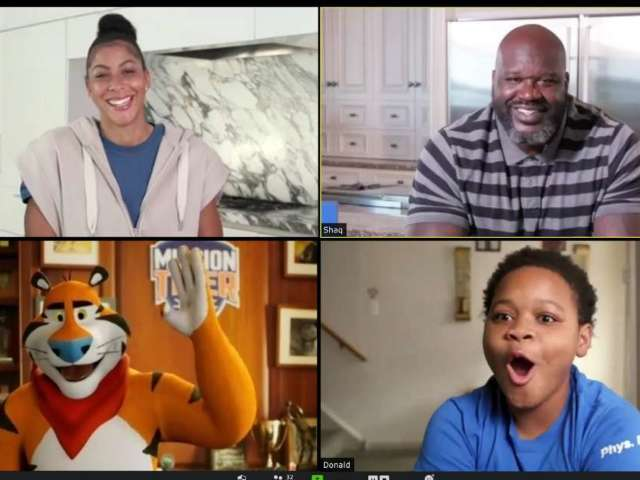Shaquille O'Neal, Candace Parker to Crash Basketball and Cheerleading Team's Zoom Meeting With Big Surprise