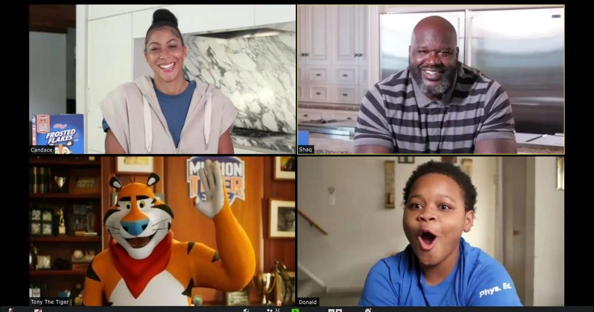 Kellogg's Frosted Flakes Mission Tiger Shaq Candace Parker Tony the Tiger (1)