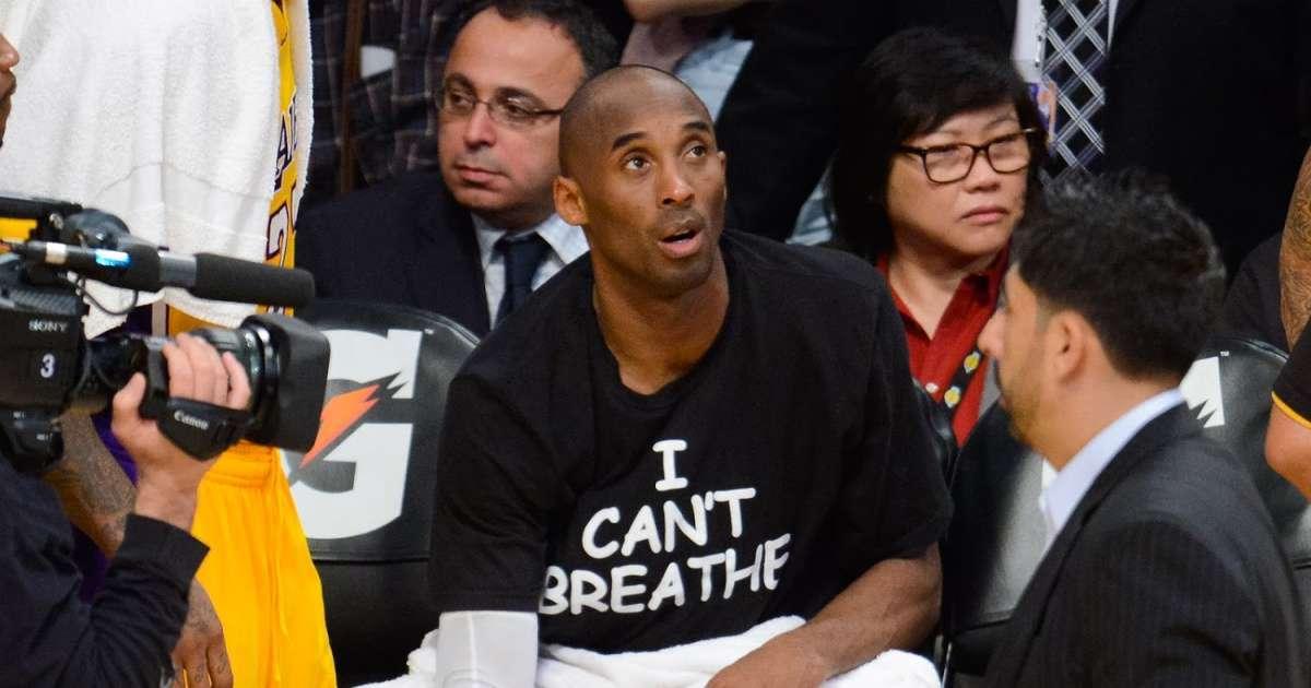 Kobe Bryant photo wearning I can't breathe protest shirt resurfaces, George Floyd death