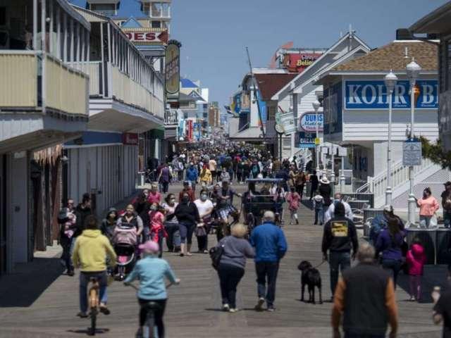 Watch: Ocean City Boardwalk Packed Memorial Day Weekend Despite Coronavirus Guidelines