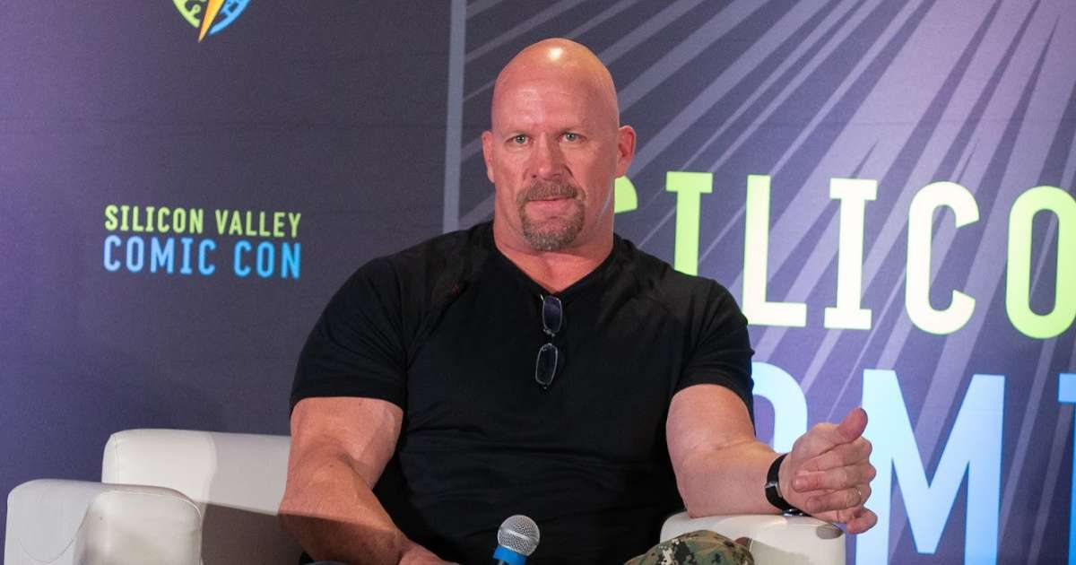 Stone Cold Steve Austin face mask photo social media