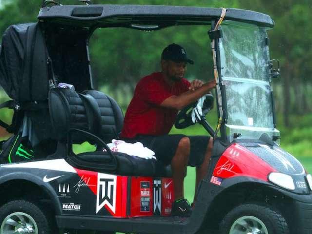 Tiger Woods vs. Phil Mickelson: Celebrities' Custom Golf Carts Revealed