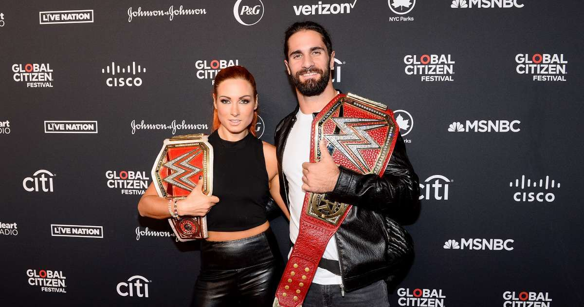 WWE Seth Rollins Becky Lynch pregnancy reaction photo