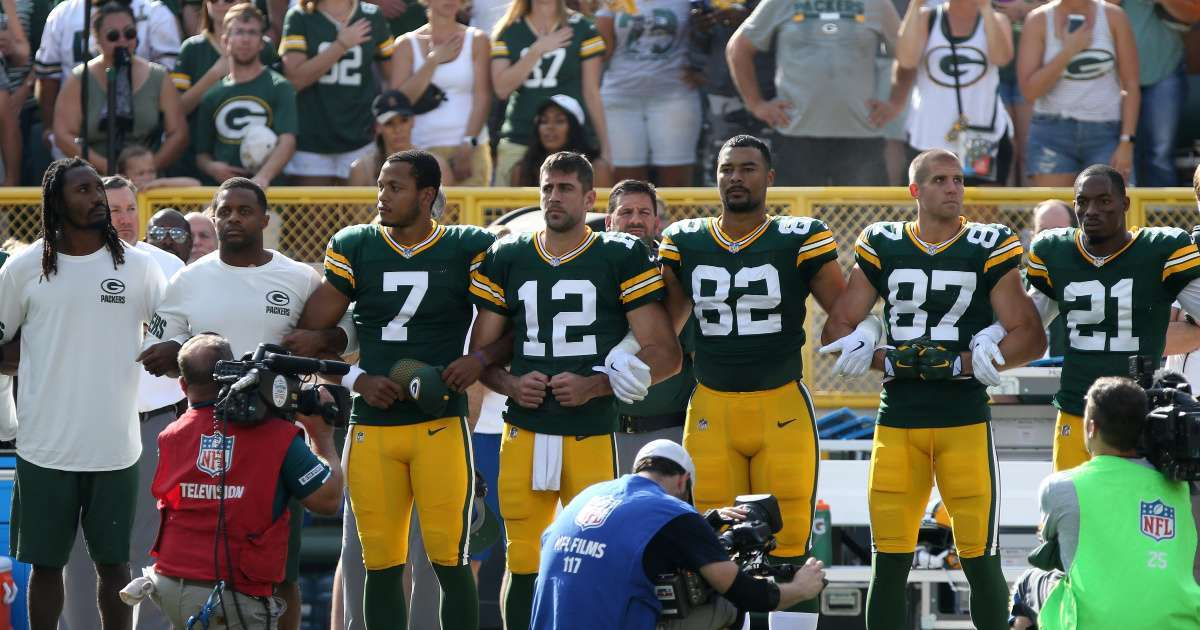 Aaron Rodgers locked arms controversy amid George Floyd protests