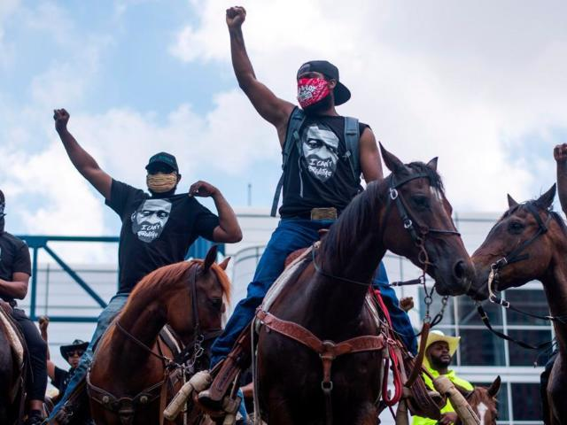 Watch: Black Texas Cowboys Protest Death of George Floyd in Viral Video