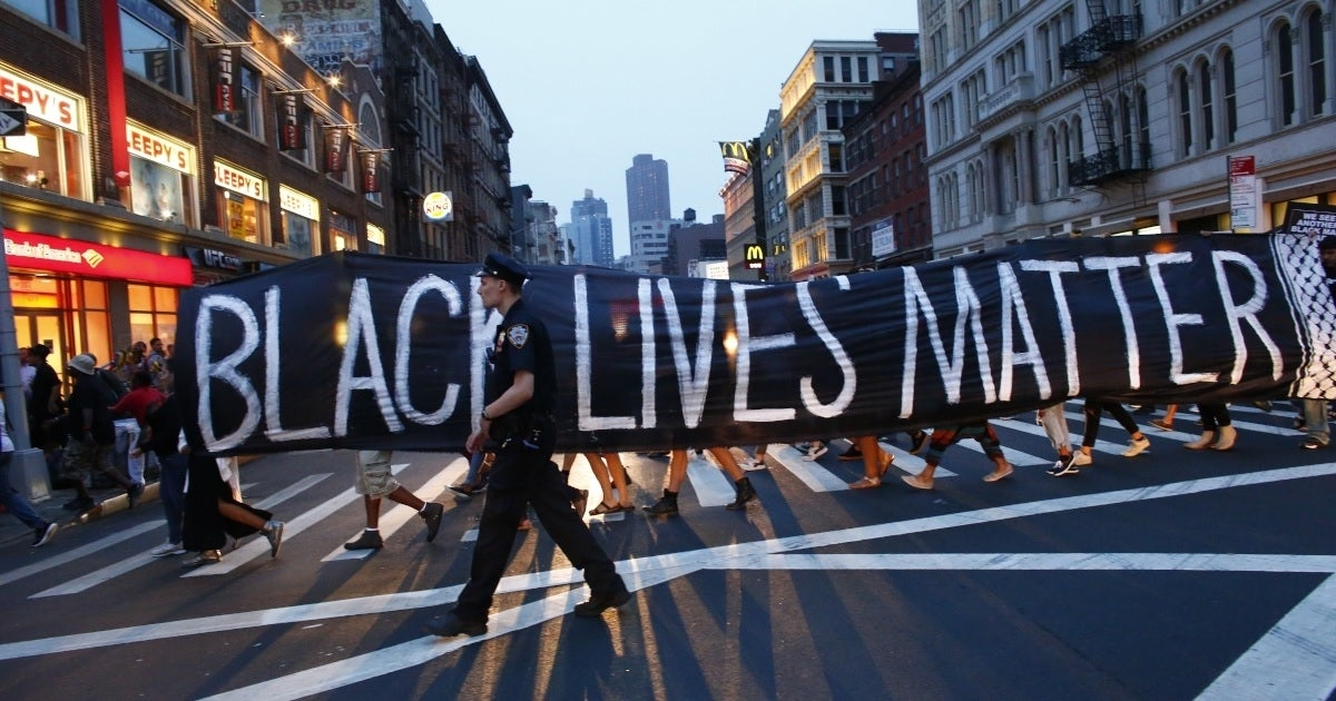 black lives matter banner getty images