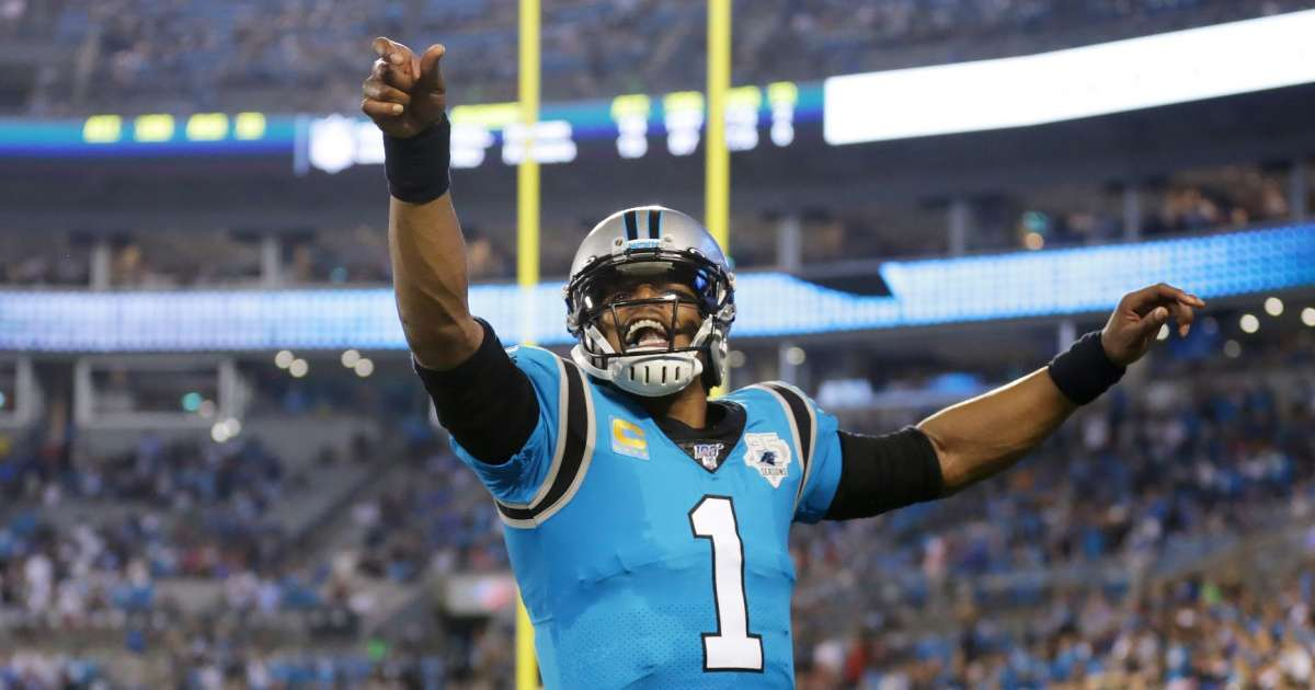 Cam Newton reacts joining New England Patriots