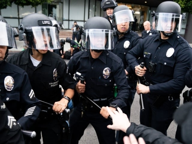 LAPD Officers Recorded Striking Protesters With Batons During Peaceful Demonstration