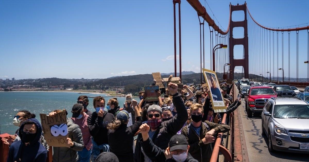 golden gate bridge protests getty images
