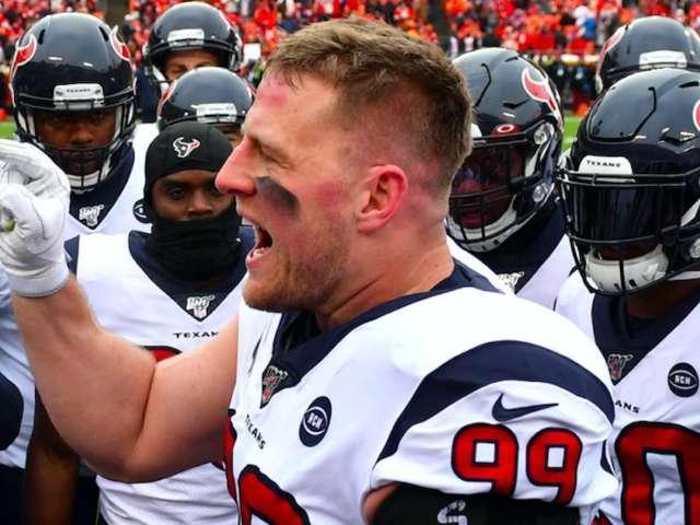 JJ Watt Shuts Down Fan Who Says 'He Won't Kneel' With Fellow Texans