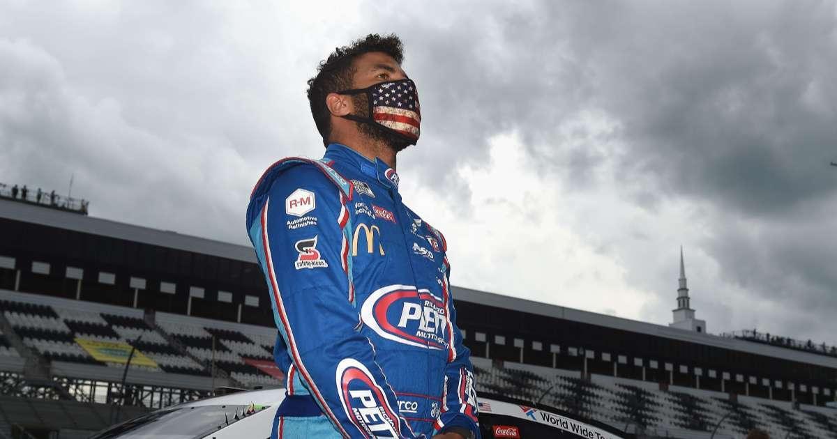Pocono 350_ Bubba Wallace reacts to 20th place finish avoiding crash