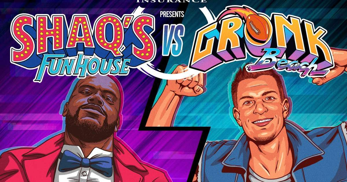 Rob Gronkowski Shaquille O'neal host virtual party