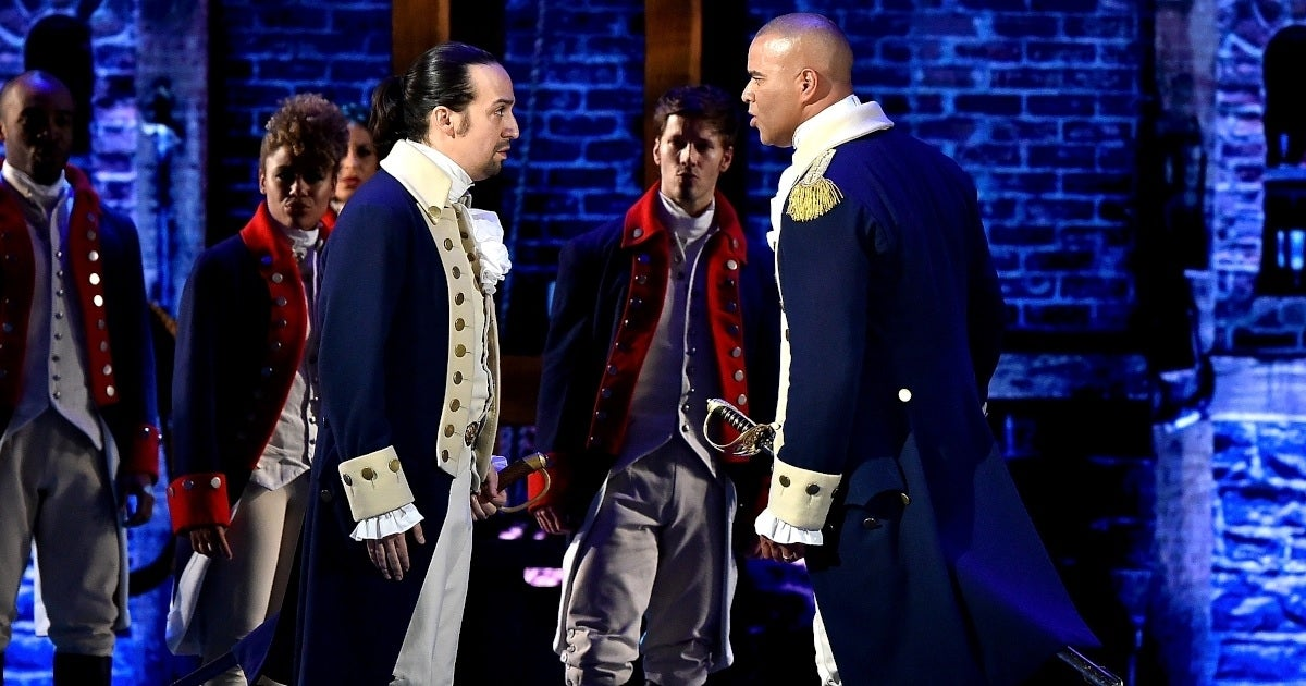 chris jackson lin-manuel miranda hamilton cbs getty images