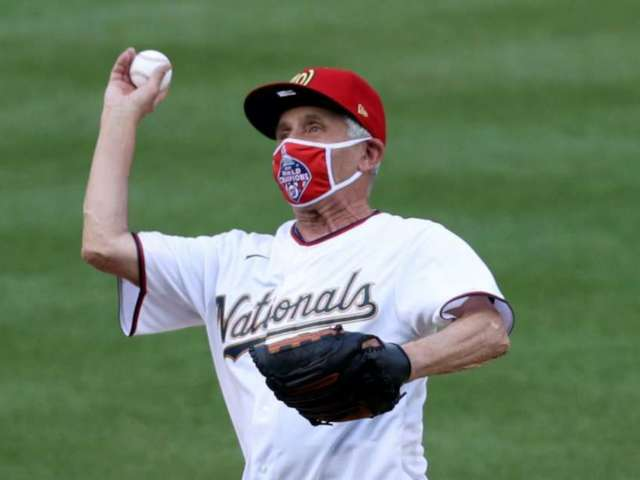 Dr. Anthony Fauci May Have Topped 50 Cent for Worst First Pitch on MLB Opening Day
