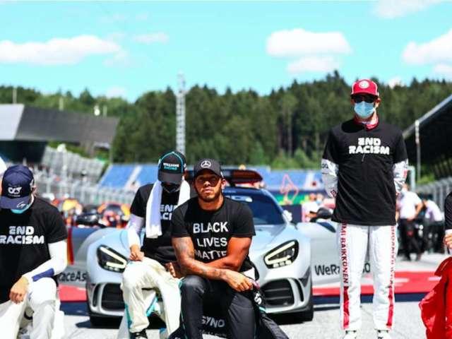 F1: Several Drivers Choose Not to Kneel Alongside Lewis Hamilton, Leaving Fans Split