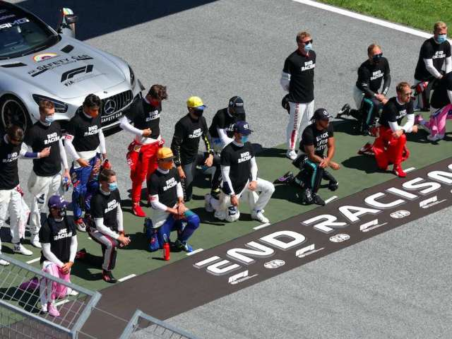 Several Formula One Drivers Chose Not to Kneel Alongside Lewis Hamilton in Support of Black Lives Matter Movement