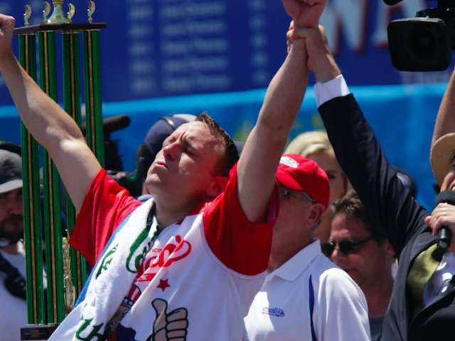 July 4th: Joey Chestnut Ate His 1,000th Hot Dog During 2020 Nathan's Contest