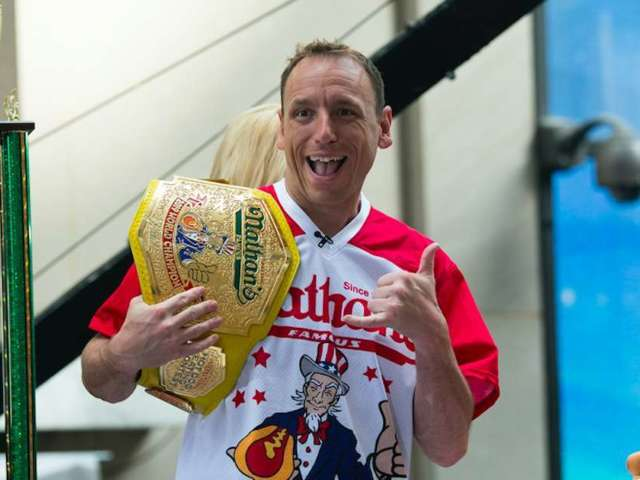 July 4th: Watch Joey Chestnut Scarf Down 75 Hot Dogs to Win Nathan's Famous Hot Dog Eating Contest 2020