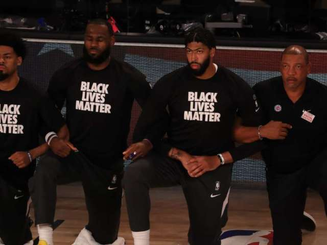Watch: LeBron James and Fellow NBA Players Kneel During National Anthem