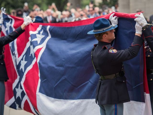 Watch: Mississippi Flag Bearing Confederate Symbol Removed From State Capitol Building