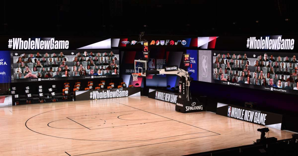 NBA debuts virtual fans restart social media reaction
